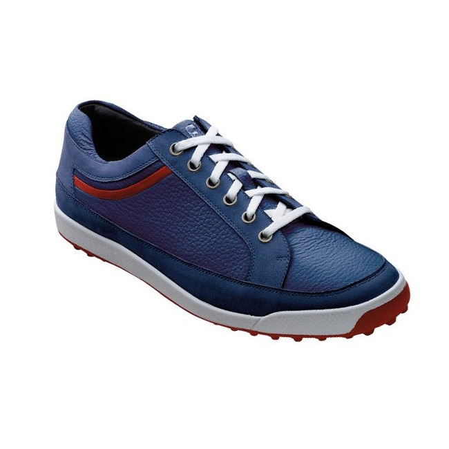 FootJoy Men's Contour Casual Navy/ Red Golf Shoes