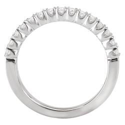 Avanti 14k White Gold Women's 1/4ct TDW Diamond Wedding Band Size 6 (G-H, SI1-SI2)