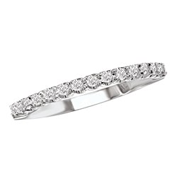 14k White Gold Women's 1/4ct TDW Diamond Wedding Band Size 6 (G-H, SI1-SI2)