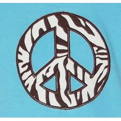 AnnLoren Girls' 2-piece Zebra Peace Sign Outfit