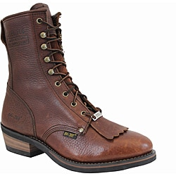 AdTec by Beston Men's Leather Steel-toe Packer Boots- Wide