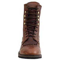 AdTec by Beston Men's Wide Chestnut Leather Packer Boots