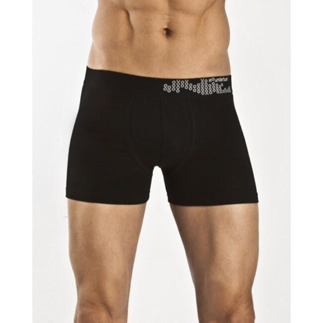 Rounderbum Men's Black Padded Boxer Briefs