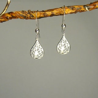 Jewelry by Dawn Filigree Teardrop Sterling Silver Earrings