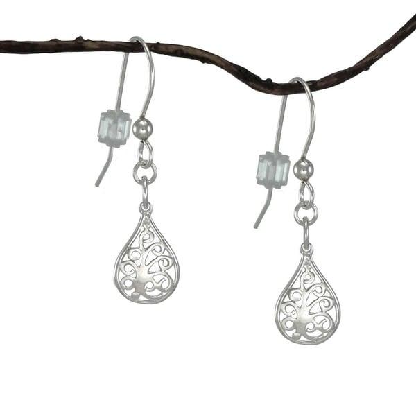 Jewelry by Dawn Small Filigree Teardrop Sterling Silver Earrings