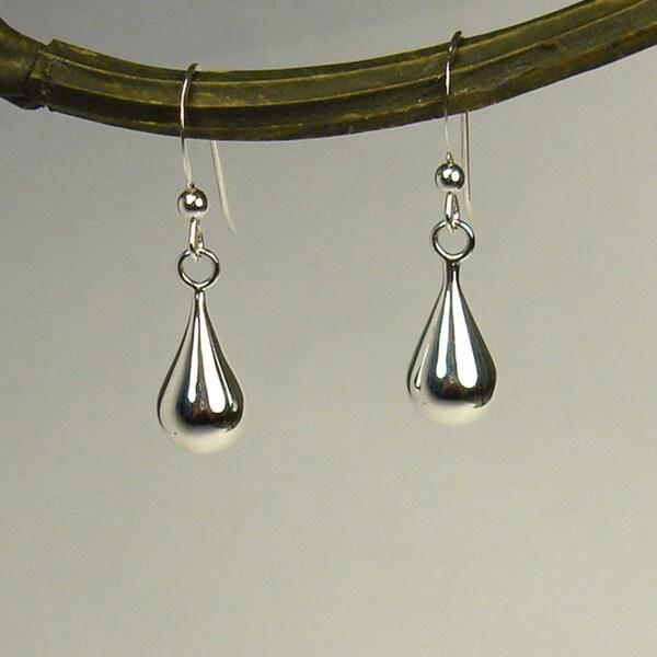 Jewelry by Dawn Round Teardrop Sterling Silver Earrings