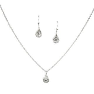 Jewelry by Dawn Filigree Teardrop Sterling Silver Necklace and Earring Set