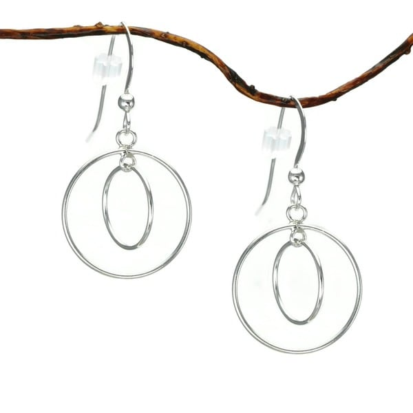 Jewelry by Dawn Double Hoop Sterling Silver Earrings