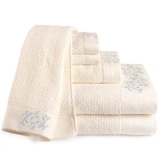 Eileen West Florentine Embroidered 6-piece Towel Set