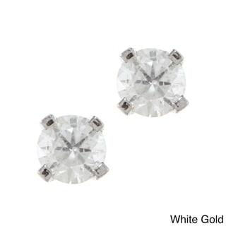 14k Gold 1/5ct TDW Diamond Stud Earrings (H-I, I2) | Overstock.com