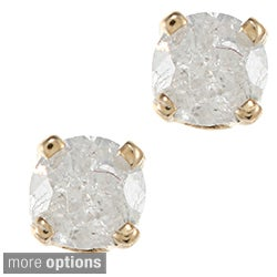 14k Gold 1/5ct TDW Diamond Stud Earrings (H-I, I2)