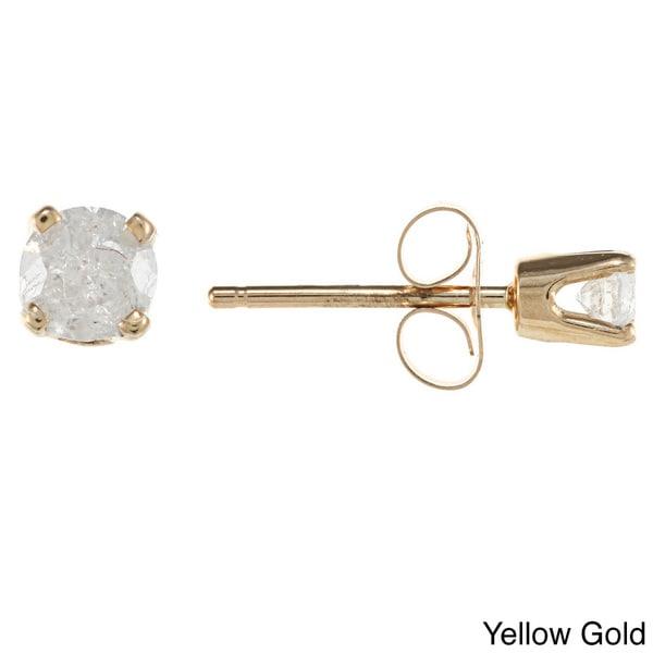 14k Gold 1/5ct TDW Diamond Stud Earrings (H-I, I2)