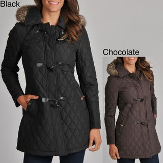 Tommy Hilfiger Women's Quilted Toggle Coat