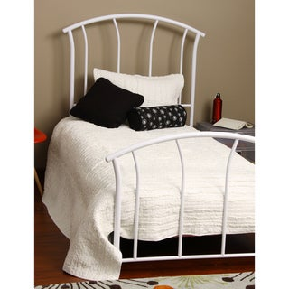 Fashion Bed Group White Spirit Twin Size Metal Bed
