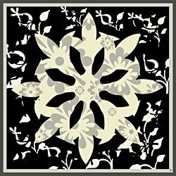 Ankan 'Floral Black 2' Gallery-wrapped Canvas Art