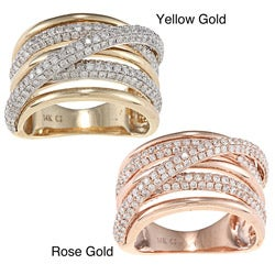 D'Yach 14k Yellow or Rose Gold 1 1/2ct TDW Diamond Ring (G-H, I1-I2)