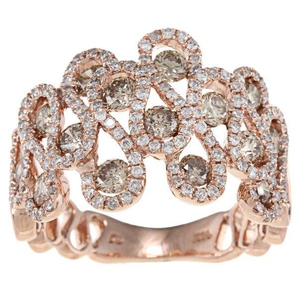 D'Yach 14k Rose Gold 1 4/5ct TDW Diamond Ring