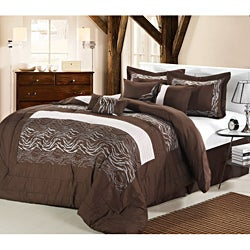 Brown Zebra 8-piece Comforter Set