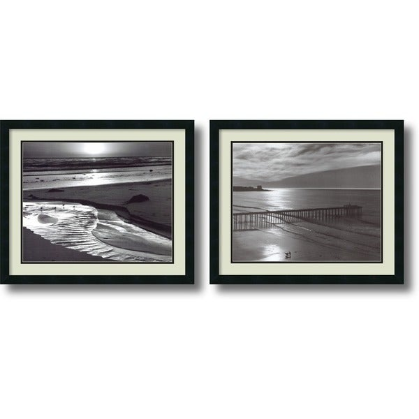 Ansel Adams 'Beach, 1966 Set' Framed Art Print