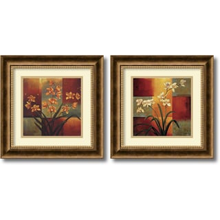 Jill Deveraux 'Orchids Set' Framed Art Print
