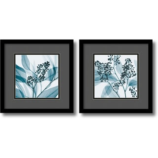 Steven N. Meyers 'Gray and Black Eucalyptus Set' Framed Art Print