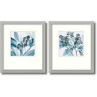 Steven N. Meyers 'Silver Eucalyptus Set of 2' Framed Art Print 15 x 17-inch (each)