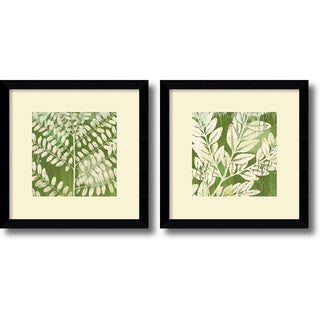 Erin Clark 'Leaves Set' Framed Art Print