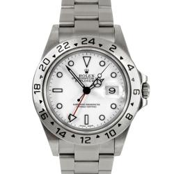 Pre-Owned Rolex Men's Explorer II Stainless Steel Watch