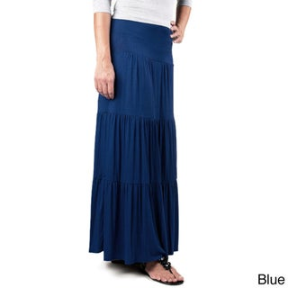 Tabeez Women's Layered Maxi Skirt