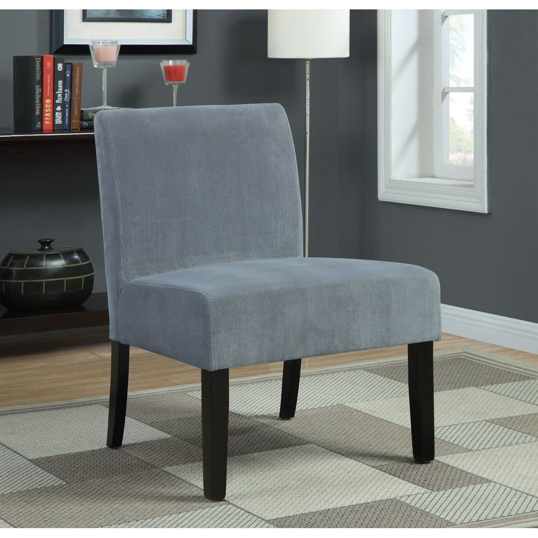 Grey Swirl Velvet Accent Chair