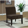 Brown Crocodile Velvet Accent Chair
