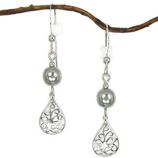 Jewelry by Dawn Filigree Teardrop With Silver Sterling Silver Earrings