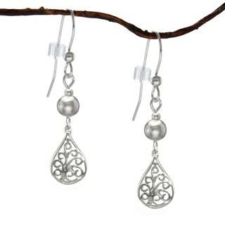 Jewelry by Dawn Filigree Teardrop With Silver Sterling Silver Earrings