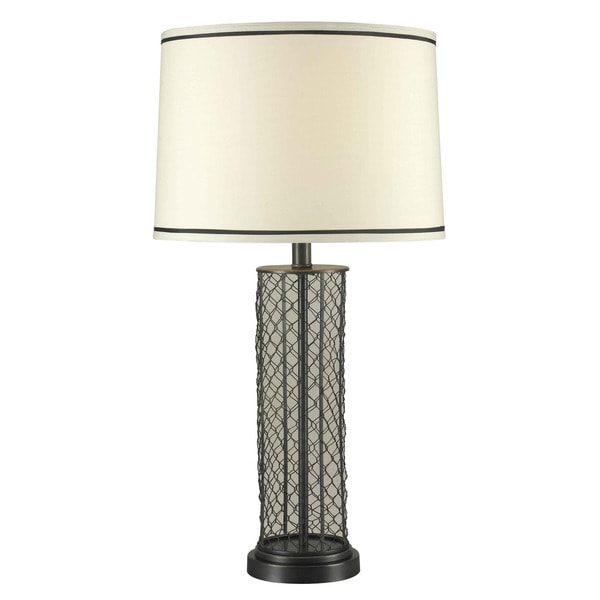 Kenroy 29-inch Black/ Silver Table Lamp