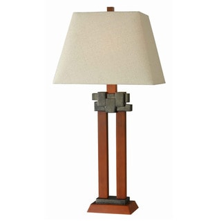 Kenroy 30-inch Faux Cherry Wood Table Lamp