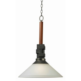 Kenroy Latch 24-inch Faux Cherry Wood Pendant