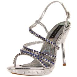 Celeste Women's 'May-22' Silver Crystal Straps Heel