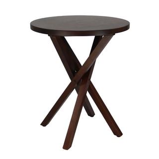 Walnut Espresso Criss Cross Table
