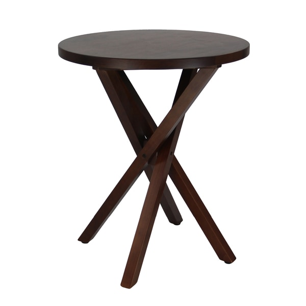 Walnut Espresso Criss Cross Table