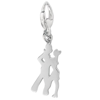 Sterling Silver Dancers Silhouette Charm
