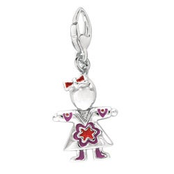 Sterling Silver Girl Charm