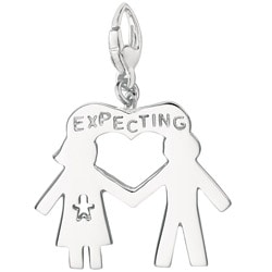 Sterling Silver Expecting Couple Charm