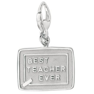 Sterling Silver Best Teacher Ever Charm