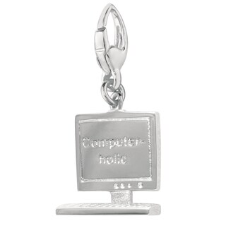 Sterling Silver Computer-Holic Charm