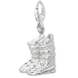 Sterling silver Pair of Ski Boots Charm