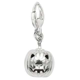 Sterling Silver Pumpkin Charm