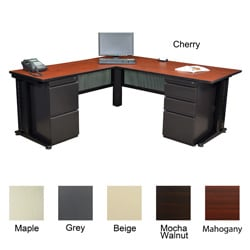 Regancy Seating Fusion 72-inch Double Pedestal L-desk with 42-inch Return