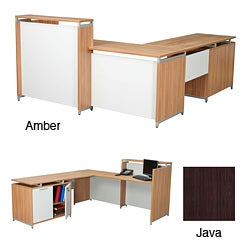 Regency Seating OneDesk ADA Compliant Reception Desk with 62-inches Storage Cabinet Return