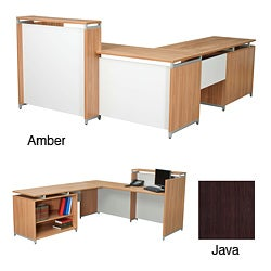Regency Seating OneDesk ADA Compliant Reception Desk with 62-inch Open Shelf Return