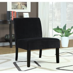 Black Crocodile Velvet Accent Chair